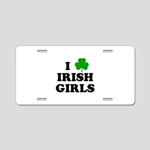 I Heart Irish Girls Aluminum License Plate